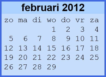 maandkalender