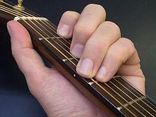 C akkoord op gitaar