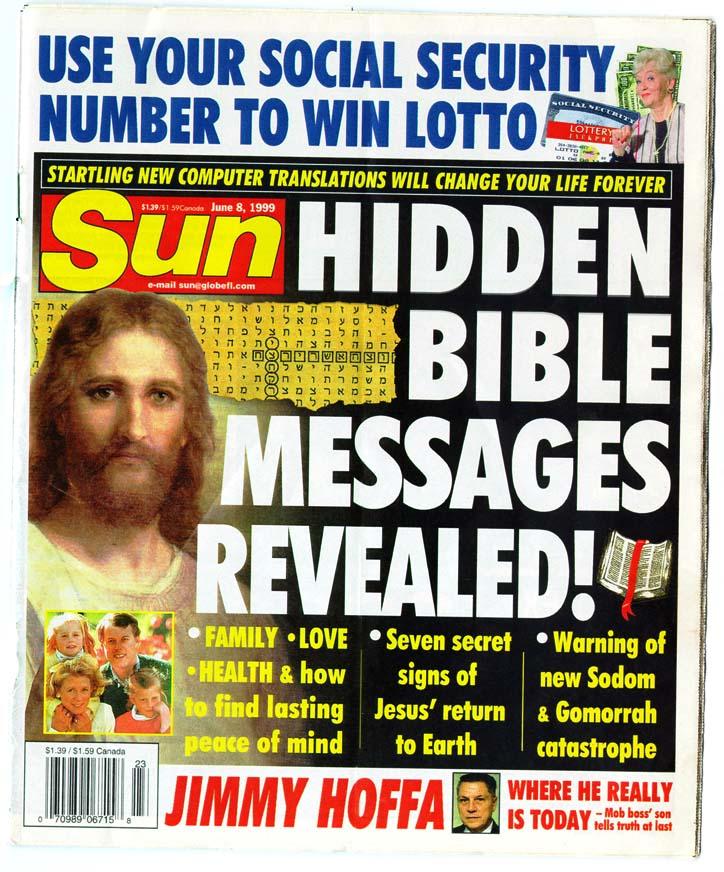 artikel van The Sun over bijbelcodes