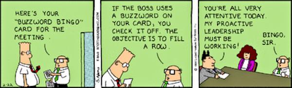 Dilbert buzzword bingo