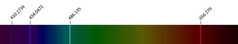 referentiespectrum waterstof (H)