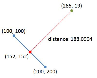 distance to line segment